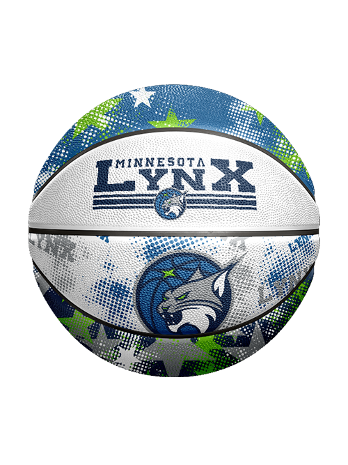 Minnesota Lynx Star Dot Rubber B3 Basketball