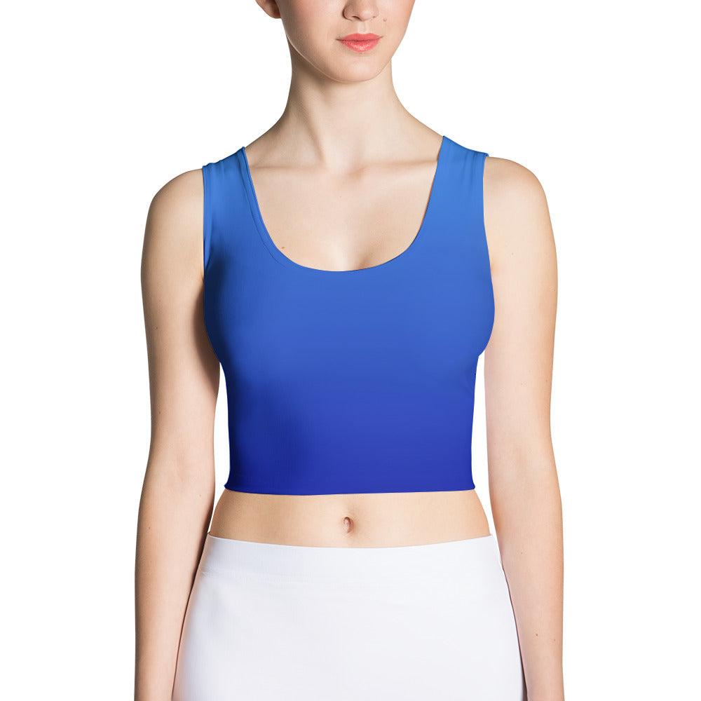 Crop Top - Blue Ombre