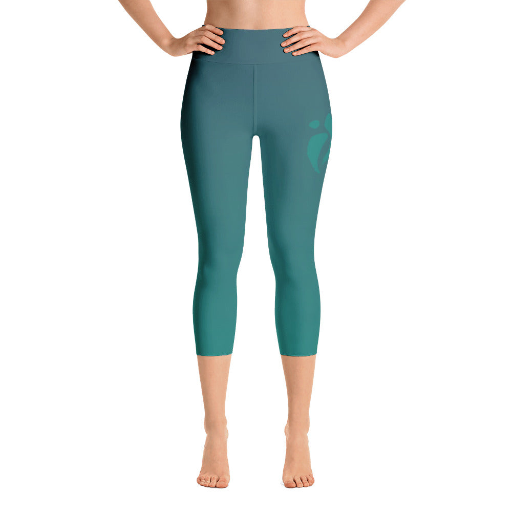 Capri Leggings - Blue Green Ombre