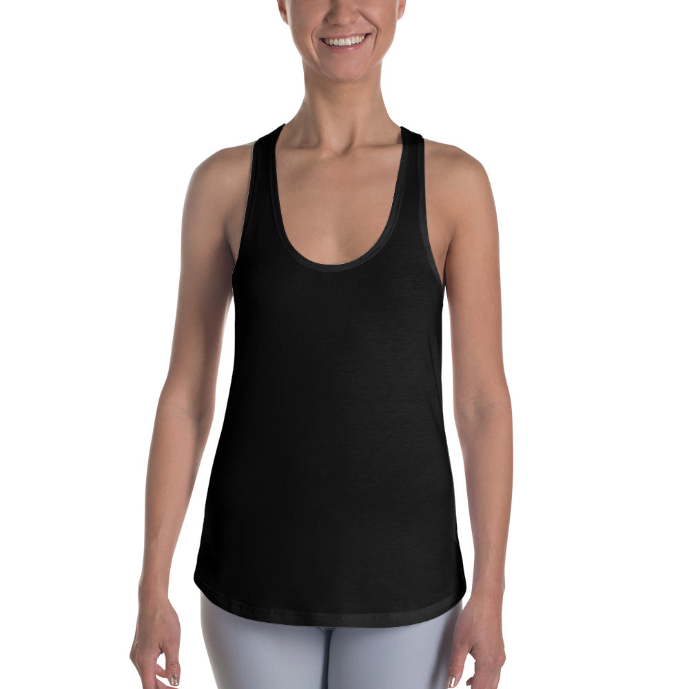 Racerback Tank - All-over Black