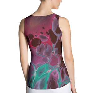Form-fitting Tank Top - Fluorite