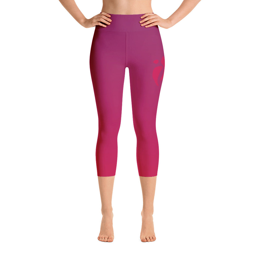 Capri Leggings - Red Ombre
