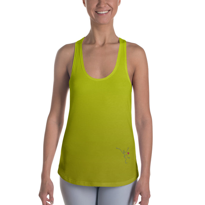 Racerback Tank - Yellow Ombre w/ Debbie Dancer