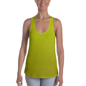 Racerback Tank - Yellow Ombre