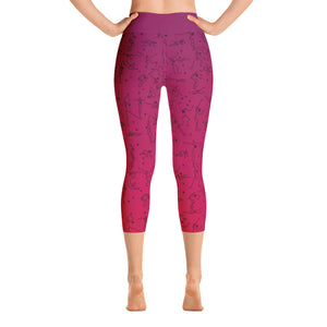 "Capri Leggings - ""Debbie's Dancers"" Original Art - Red Ombre"