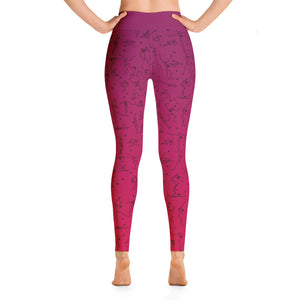 "Leggings - ""Debbie's Dancers"" Original Art - Red Ombre"