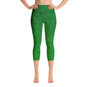"Capri Leggings - ""Debbie's Dancers"" Original Art - Green Ombre"