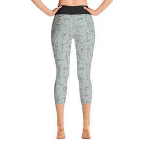 "Capri Leggings - ""Debbie's Dancers"" Original Art - Grey"