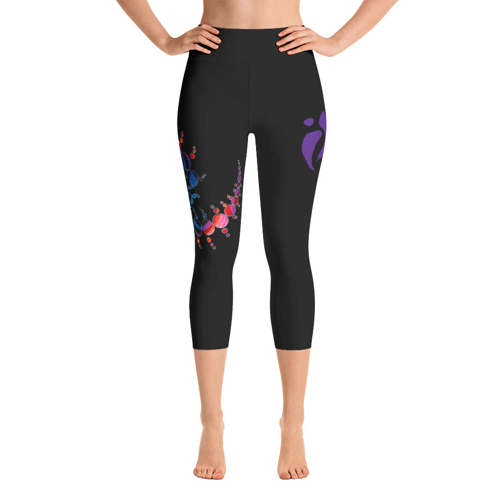 Capri Leggings - Flow Routine-inspired Black (Hip Swish)