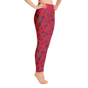 Leggings - Nia Swish Blacks on Red