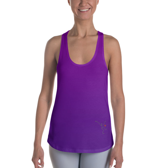 Racerback Tank - Purple Ombre w/ Debbie Dancer