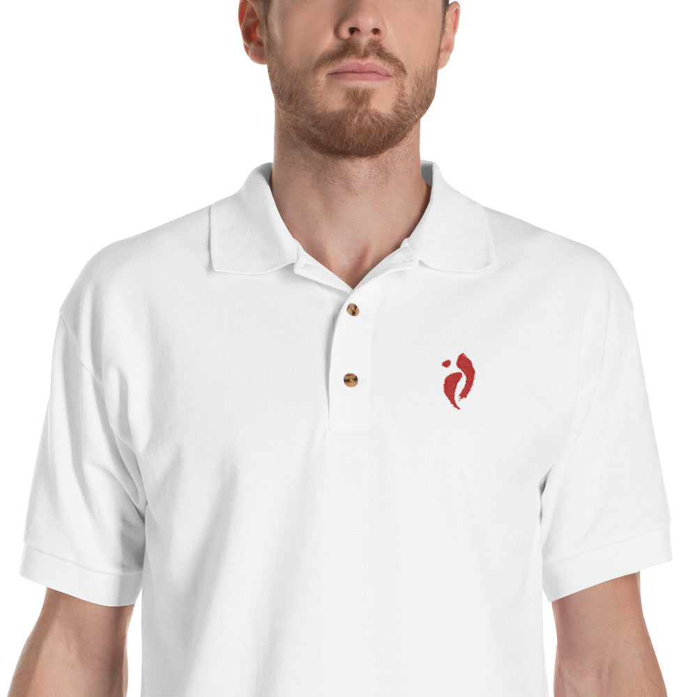 Embroidered Polo Shirt - Nia Swish Red
