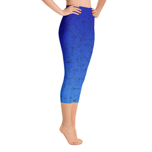 "Capri Leggings - ""Debbie's Dancers"" Original Art - Blue Ombre"
