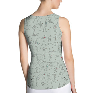 "Form-fitting Tank Top - ""Debbie's Dancers"" Original Art"