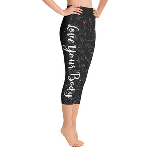 "Capri Leggings - ""Debbie's Dancers"" Original Art - Black"
