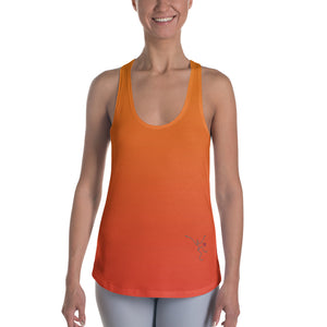 Racerback Tank - Orange Ombre w/ Debbie Dancer