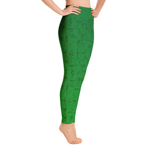 "Leggings - ""Debbie's Dancers"" Original Art - Green Ombre"