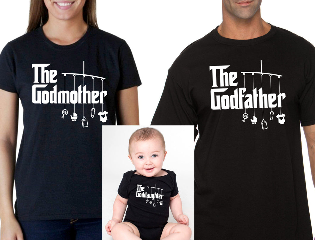 godmother or godfather shirt, goddaughter onesie - matching shirts (Note@chkout: size/design) - Mix-N-Match!