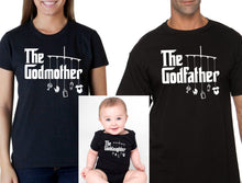 godmother or godfather shirt, goddaughter bodysuit (romper) or t-shirt matching shirts (Note@chkout: size/design) - Mix-N-Match!