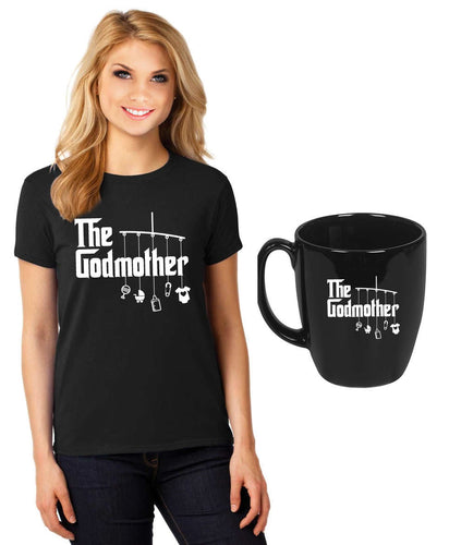 godmother shirt (unisex) PLUS a 14 oz coffee mug   |  dishwasher safe