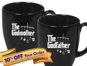 godfather coffee mug   |   double-sided logo   |   14 ounce   |   micro & diswasher safe