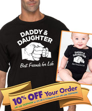 daddy daughter unisex shirt or bodysuit (romper) set  |  best friends for life fist bump shirt  |  father's day gift (note size @ checkout)