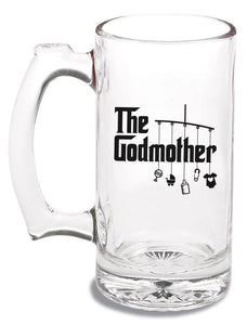godmother glass beer mug   |   12 ounce   |   diswasher safe