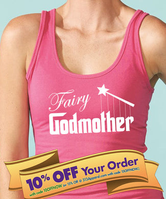 fairy godmother tank top with wand  |  fairy godmother shirt  |  godmother gift