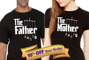 the father and mother shirt set   |   gift for father and mother (please note sizes @ checkout)