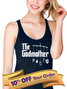 godmother tank top with mobile and toys  |  baptism shirt  |  godmother gift