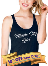 music city girl women's racerback tank top (next level apparel)  |  tennessee gift