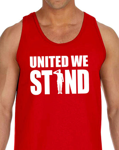 united we stand saluting men's tank top - 4th of july - patriotic gift
