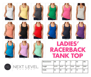 michigan girl women's racerback tank top (next level apparel)  |  detroit michigan pride