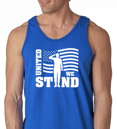united we stand with flag men's tank top - 4th of july - patriotic gift