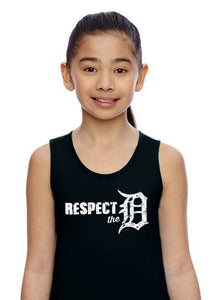 respect the D girl's fine jersey tank top (L.A.T. Apparel)