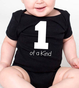 1 of a kind romper or toddler shirt   |   first birthday  |  white design