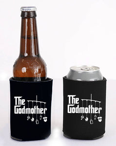 godmother can or bottle cooler   |   double-sided logo   |   godmother gift for baptism