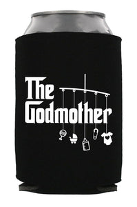 godmother & godfather can or bottle coolers (you get one of each)   |   double-sided logo   |   godmother godfather gift for baptism