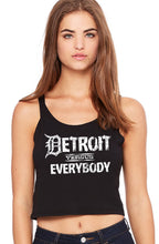 "detroit vs (versus) everybody ladies' poly-cotton crop tank - your choice of large or small ""D"""