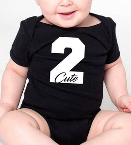 2 cute romper or toddler shirt in white text  |  2nd birthday