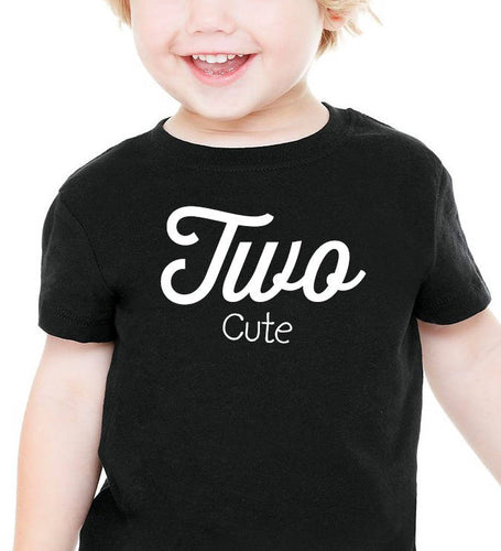 two cute onesie or toddler shirt in white text  |  2nd birthday