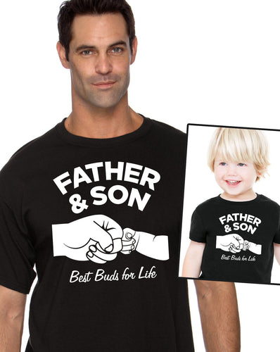 father & son best buds for life shirt w/kids shirt/bodysuit (romper)  |  fathers day or birthday gift (note size @ chkout) - Mix-N-Match!
