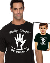 daddy daughter best buds for life hands unisex shirt & toddler tee, youth shirt or bodysuit (romper)  |  gift for dad (note size @ checkout)