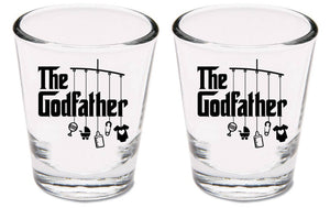 Two godfather shot glasses   |   1.5 ounce   |   diswasher safe