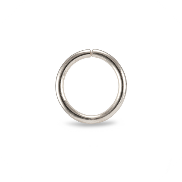 Karma Smooth Piercing Ring White Gold