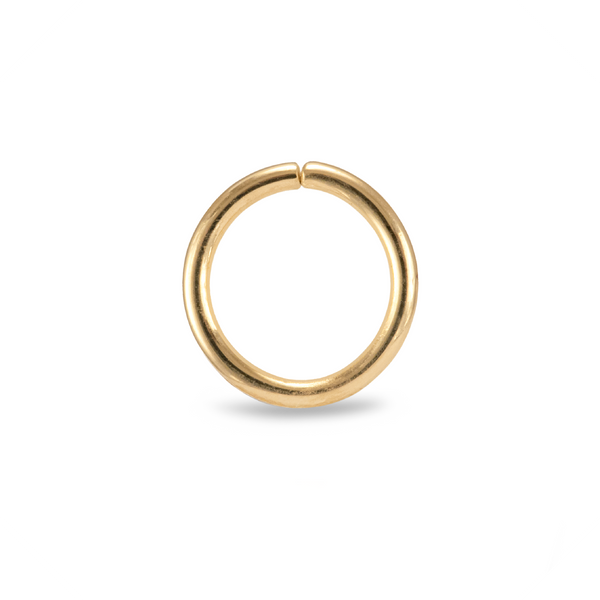 Karma Smooth Piercing Ring Yellow Gold