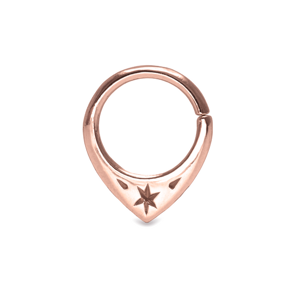 Mini Fin Star Septum Ring 9k Rose Gold