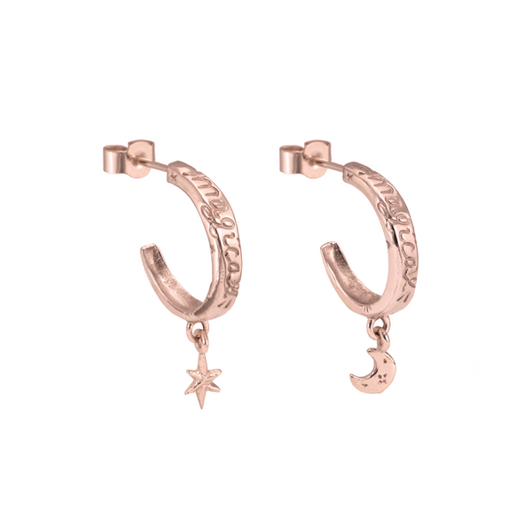 Enchanted Charm Earrings 9k Rose Gold