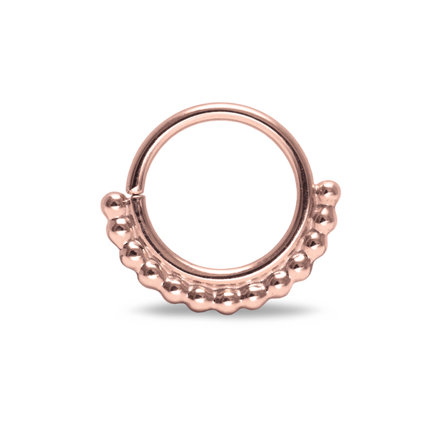 Halley Beaded Septum Ring Rose Gold