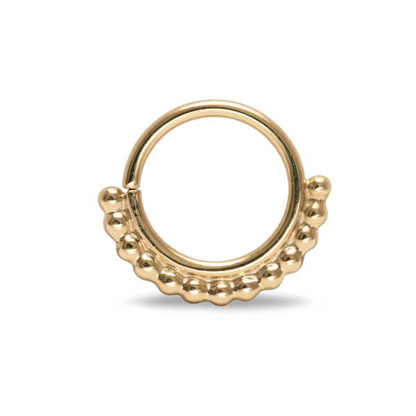 Halley Beaded Septum Ring Yellow Gold